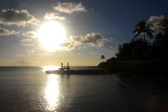 Karaiby wybrzeża linia Fotografia Royalty Free