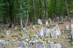Karaimes古老公墓 免版税库存照片