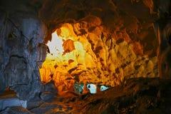 The Karain cave in the near of Antalya � nicely illuminated Royalty Free Stock Photos