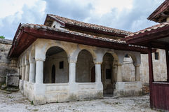 Karaite prayer house in Chufut-Kale, Crimea Royalty Free Stock Images