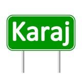 Karaj road sign. Stock Image