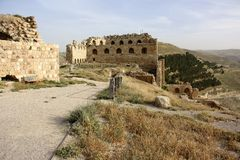 Karak castle in Jordan Stock Photo