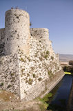 Karak des Chevaliers. Famous crusaders castle near Damascus, Syria royalty free stock images