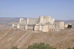 Karak des Chevaliers. Famous crusaders castle near Damascus, Syria royalty free stock photos