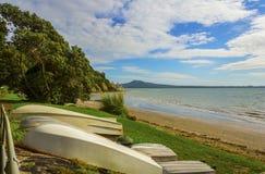 Karaka Bay Beach Auckland New Zealand Stock Image