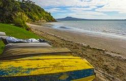 Karaka zatoki plaża Auckland Nowa Zelandia Zdjęcia Stock