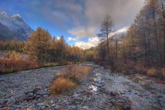 karakabak ranek rzeka Fotografia Stock