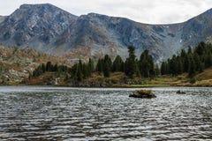 Karakol湖 免版税库存照片