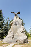 Karakol Issyk Kul, Kirgizistan - Augusti 12, 2016: Monument till th Royaltyfri Fotografi
