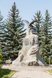 Karakol Issyk Kul, Kirgizistan - Augusti 12, 2016: Monument till th Royaltyfri Bild