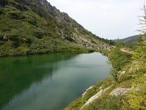 Karakol jeziora w Altai górach 2014 Zdjęcie Stock