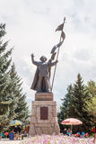 Karakol, Kazakhstan - August 23, 2016: Monument Tagay-biy Muham Stock Photos