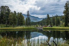 Karakol lakes Stock Image