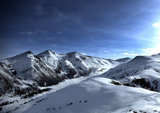 Karakol-Skiort Stockbild