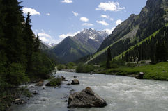 Karakol Valley Royalty Free Stock Images
