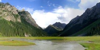 Karakol Vellay, Quirguistão Imagens de Stock