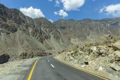 Karakoram autostrada, Chillas, Diamer, Gilgit Baltistan, Północny Pakista zdjęcia stock