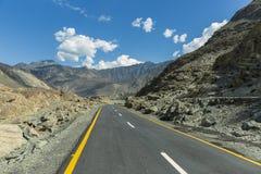 Karakoram autostrada, Chillas, Diamer, Gilgit Baltistan, Północny Pakista fotografia royalty free