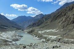 Karakoram autostrada, Chillas, Diamer, Gilgit Baltistan, Północny Pakista zdjęcie royalty free