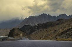 Karakoram autostrada, Passu, Gilgit, Pakistan Zdjęcia Royalty Free