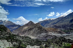 Karakoram berg, Pakistan Arkivbild