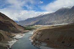 Karakoram bergskedja Arkivfoton
