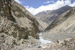 Karakoram huvudväg Arkivfoton