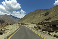 Karakoram-Landstraße, Chillas, Diamer, Gilgit Baltistan, Nord-Pakista stockbilder