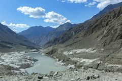 Karakoram-Landstraße, Chillas, Diamer, Gilgit Baltistan, Nord-Pakista lizenzfreies stockfoto