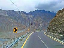 Karakoram-Landstraße Pakistan lizenzfreies stockbild