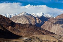 Karakoram mountain landscape in Ladakh, North India Stock Photography