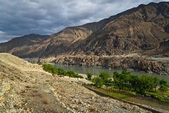 Karakoram mountain range. Himalayas of Pakistan Stock Images