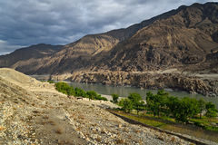 Karakoram mountain range Stock Images