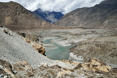 Karakoram mountain range Royalty Free Stock Photo