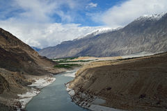 Karakoram mountain range. Himalayas of Pakistan Stock Photos