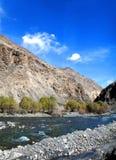 Karakoram Mountain Range and the Indus River Royalty Free Stock Image
