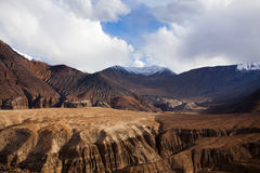 Karakoram mountain range and Nubra Valley view in Ladakh, India Royalty Free Stock Images