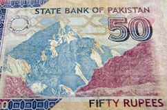 Karakoram Peak on Banknote Royalty Free Stock Images