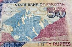 Karakoram Peak on Banknote Royalty Free Stock Images