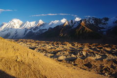 Karakoram peaks. Who is possibble to see from siqam barish campside Stock Image