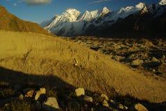 Karakoram peaks II. View of karakoram peaks by the wya of biafo hispar trek Royalty Free Stock Photos