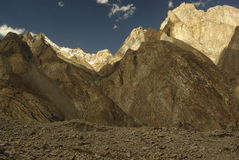 Karakoram rockies imagen de archivo libre de regalías