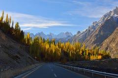 Karakorum Autostrada Północny Pakistan Zdjęcie Royalty Free