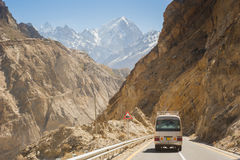 Karakorum autostrada w Pakistan Fotografia Royalty Free
