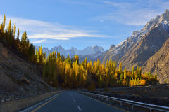 Karakorum highway. Northern Pakistan. Royalty Free Stock Photo