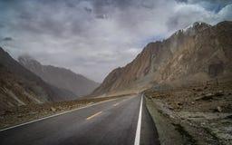 Karakorum Highway. One of the most stunning mountain roads in the world - Karakorum Highway in China Royalty Free Stock Image