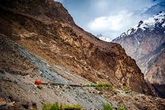 Karakorum Highway in Pakistan Stock Photo