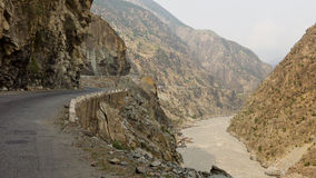 Karakorum Highway in Pakistan Stock Images