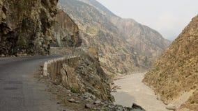 Karakorum Highway in Pakistan stock images