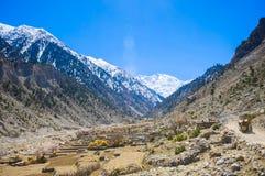 Karakorum huvudväg Arkivfoton